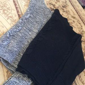 Double trouble turtleneck sweaters!